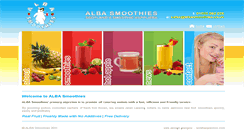 Preview of albasmoothies.co.uk